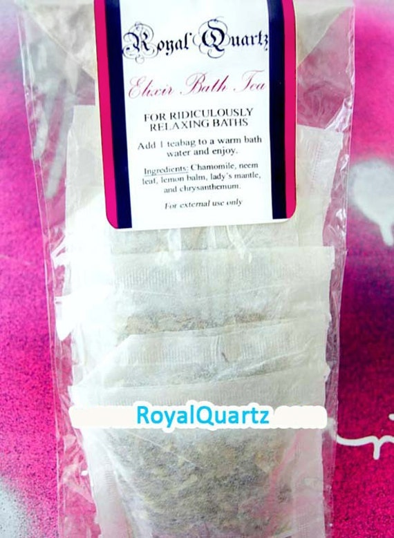 Elixir Bath Tea (5 bags) soothing calming skin softening perfect for after a hard day