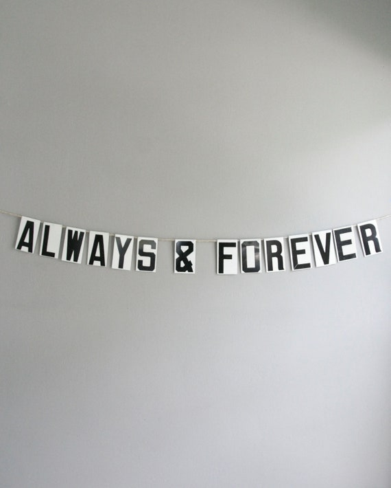 always & forever / vintage modern bunting