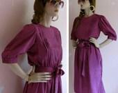 Bustle Up Vintage 1980s Dress
