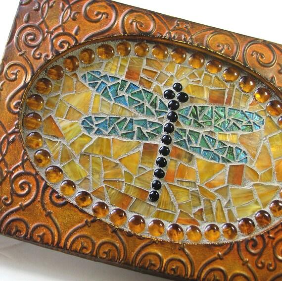 Dragonfly Mosaic Wall Hanging Dragonfly Art Mosaic Wall Art