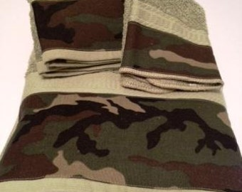 Camouflage Towel Set