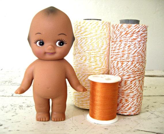 Vintage Kewpie DoLL, African American Black Baby Doll With Poseable Head