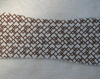 Brown Geometric Burp Cloth