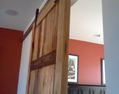 Sliding Barn Door from Reclaimed Wood and Vintage Hardware
