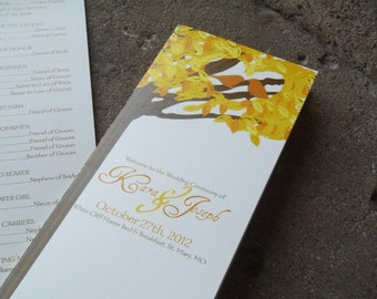 Love Birds Wedding Program