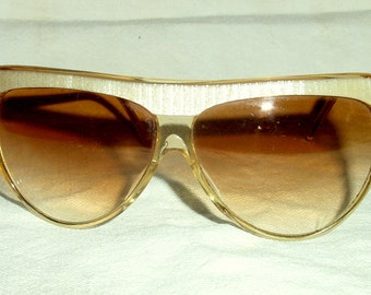 Vintage Champagne Sunglasses by Collezione, Style La Scala, Made in Italy