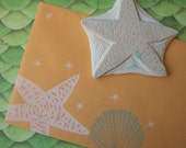 Hand Carved Large Sea Star Stamp
