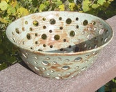 SALE Serving Bowl Circle of Life- Hand Carved Pottery