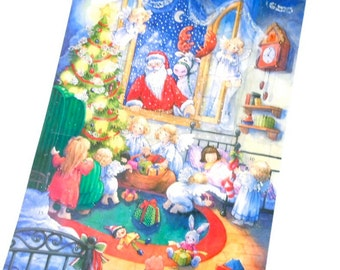 SANTA in the Window Christmas Advent Calendar  . Made in Germany . German advent calendar
