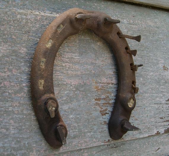 Vintage Horseshoe Rusty Horseshoe Draft Horse Shoe