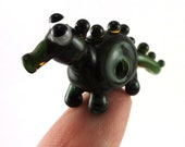 Swamp Creature Lampworked Glass Figurine Bead