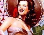 Sassy Senoritas Retro Pinup Girls Kitschy Cotton Fabric