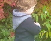 Knitting Pattern Sweater Jumper - Connor a top down seamless hooded sweater (6 Sizes 0 - 7yrs)