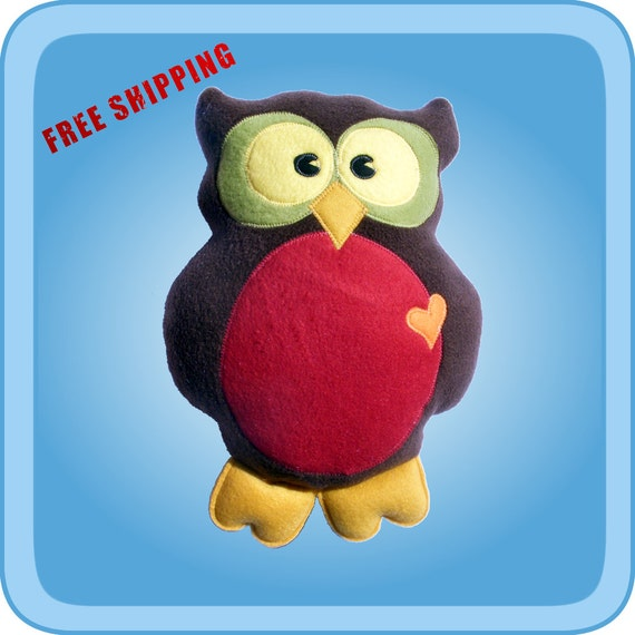 Large Stuffed Owl
