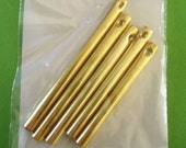 5pc Set of Gold Metal Wind Chimes