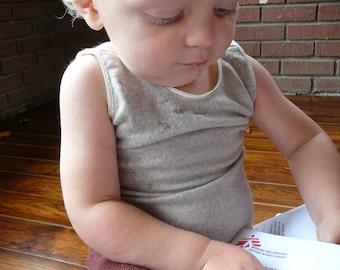 2 Piece PJ Set for kids - Merino Cashmere - Pure Fine Wool - Tank Tee - Long Underwear - Custom Sizes 1 to 4 T