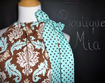 Pillowcase DRESS or TOP - Joel Dewberry - Damask - Made in ANY Size - Boutique Mia