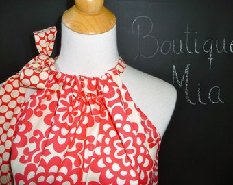 Pillowcase DRESS or TOP - Amy Butler - Wallflower - Made in ANY Size - Boutique Mia