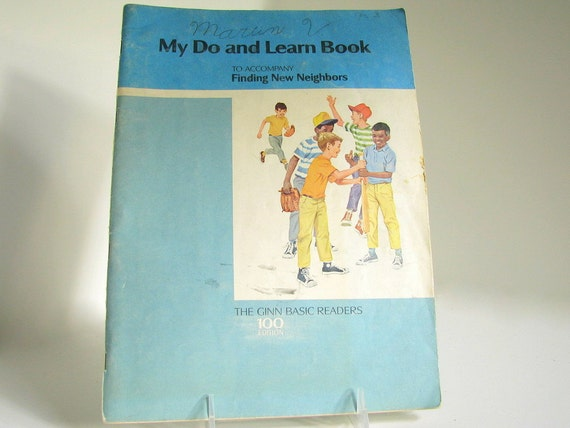 Vintage My Do and Learn Book Elementary School Education Workbook Paper Ephemera for Collages