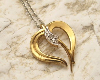 Small Heart Necklace Sterling Chain Gold Filled Jewelry N4877
