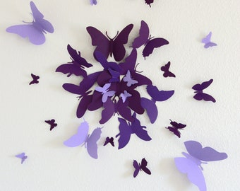 30 3D Butterfly Wall Art Circle Burst