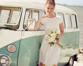 Short Vintage Beach Wedding Dress