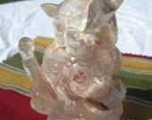 Florida Souvenir  Resin OWL with  sea shells encased in body