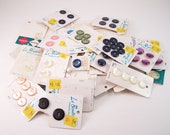 vintage 1970s 137 buttons many colors and shapes huge lot made in japan
