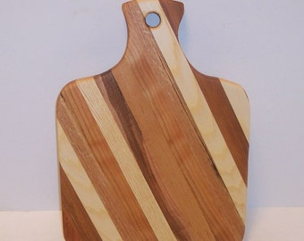 Wood Cutting Board Handcrafted from Mixed Hardwoods