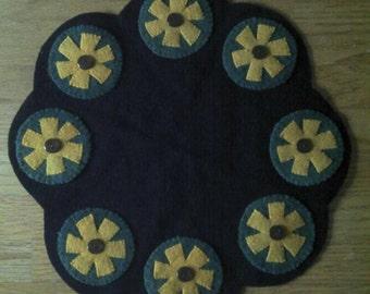 Yellow Wild Flower Wool Tablemat