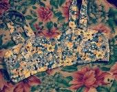 Floral Denim Bralette