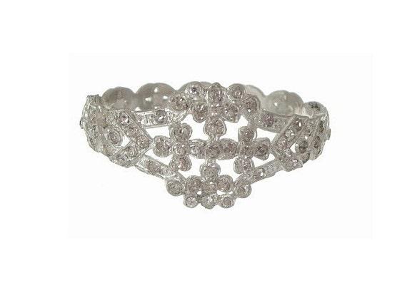 Art Nouveau Bracelet Book Piece Forget Me Knot Bangle 1915 Vintage Wedding Jewelry