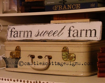 FARM sweet FARM chippy farmhouse vintage sign handpainted