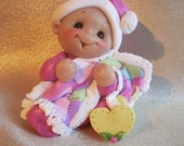 Baby Baby's first Christmas Ornament children Personalized Gift  Polymer Clay Baby Shower Gift