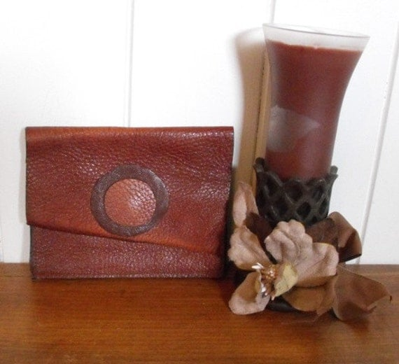 Leather Wallet Recycled Cash Card Holder Pouch