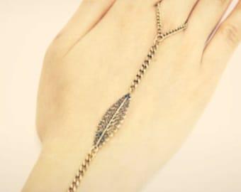 BRASS HAND bracelet slave bracelet