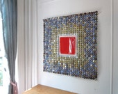 Red Square - bottle cap tapestry - Made to Order