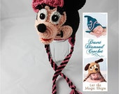 Crochet Pattern 062 - Mrs. Mouse Earflap Beanie Hat - All Sizes