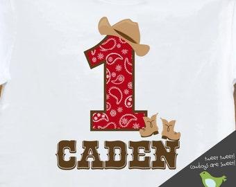cowboy birthday shirt  (or cowgirl shirt) buckaroo birthday party theme shirt