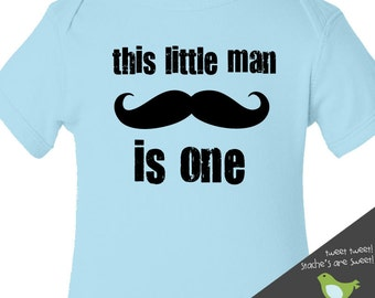 little man mustache first Birthday shirt -this little man themed first (or any) birthday boy t shirt or bodysuit