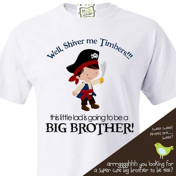 Pirate Big Brother to Be T-shirt- perfect pregnancy announcement