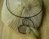 Heart Dream Catcher Choker necklace- Black Aluminum and Bullion Wire
