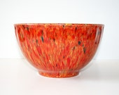 Orange/Red Melamine Melmac Confetti Splatter Bowl - Booton, NJ