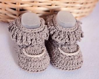 Crochet PATTERN  - Fringe Baby Booties