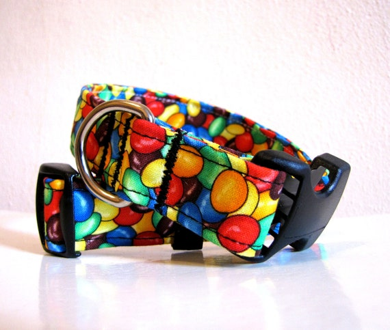 SALE - Colorful Candies Dog Collar - Size M