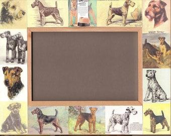 WELSH TERRIER / Dog FRAME / Vintage Art - Picture Photo Frame