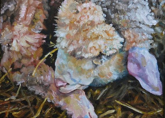 "Oil Painting, Original Painting, Lamb, 9""x12"""
