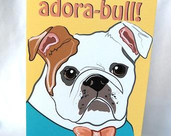 Adorable Bulldog Greeting Card