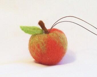 Felt Christmas Miniature Fruit Ornament Needle Felted Macintosh Apple