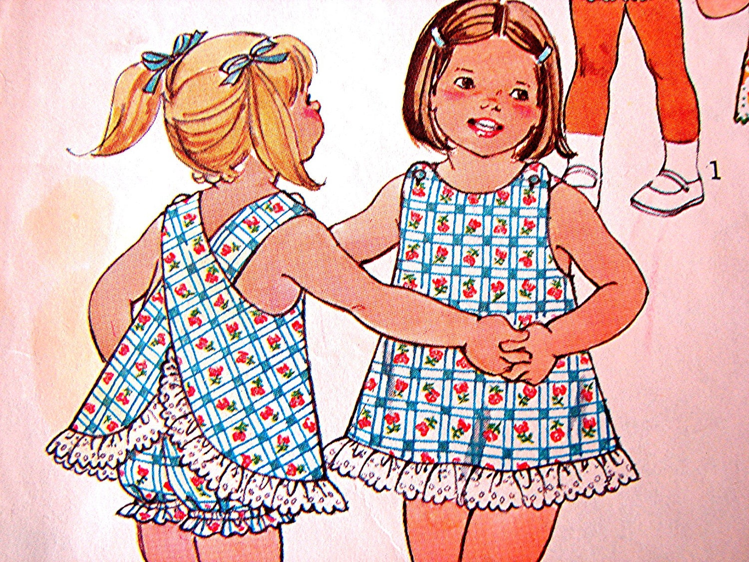Vintage 1970s Toddler Girl Sundress And Bloomers Dress Pattern